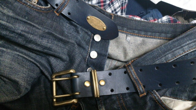 DOUBLE PIN LEATHER BELT-2